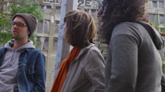 Filmmakers talking - stock footage