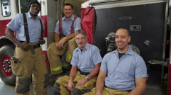 Group of firefighters, portrait Arkistovideo