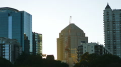 Atlanta Buildings From Afar Stock Footage