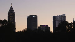Downtown Atlanta From Park - stock footage