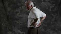 Senior man with back pain Stock Footage