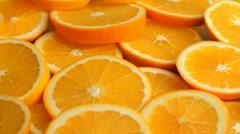 Fresh Orange Slices Stock Footage