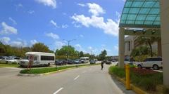 Driving through Mount Sinai Hospital Miami Beach Stock Footage