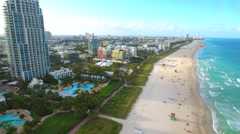 Miami Beach south of 5th Street luxury neighborhood Stock Footage