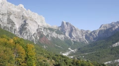 rocky mountains in Albania - stock footage