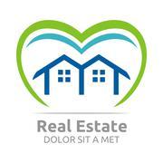 Logo Real Estate Apartment Design Developer Vector - stock illustration