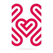 Abstract Logo Heart Love Design Vector Business - stock illustration