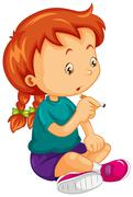 Little girl trying to smoke cigar Piirros