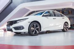 NONTABURI, THAILAND - 23 MAR : All New Honda Civic showed in Thailand the 37t - stock photo