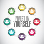 Invest in yourself connections sign message Piirros