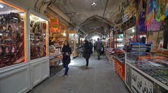 Gheisari bazar in Isfahan Stock Footage