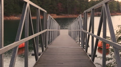 Quiet Lake Dock Ramp - stock footage