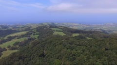 Beautiful Green Hills by the Coast Stock Footage