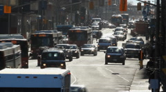 Time lapse on busy Ottawa street with people and traffic. Ottawa, Canada. - stock footage