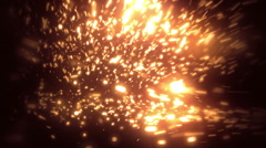 Orange Soft Abstract Particles Loopable Background Stock Footage