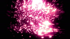 Purple Soft Abstract Particles Loopable Background Stock Footage