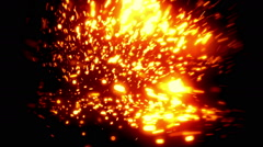 Fire Soft Abstract Particles Loopable Background Stock Footage