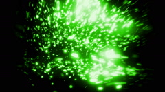 Green Soft Abstract Particles Loopable Background Stock Footage