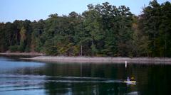 Kayak Fisher - stock footage