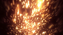 Orange Massive Particles Loopable Background Stock Footage
