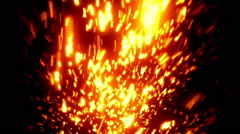 Gold Massive Particles Loopable Background Stock Footage
