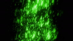 Green Falling Particles Loopable Background Stock Footage