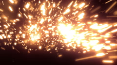 Orange Fast Particles Loopable Background Stock Footage