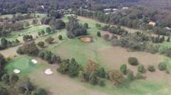 Golf Course Side Pan Shot Stock Footage