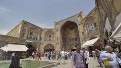 Gheisari bazar entrance in Isfahan Stock Footage