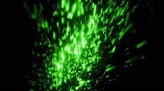 Green Fast Abstract Particles Loopable Background Stock Footage