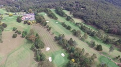 Golf Course Aerial Shot  Stock Footage