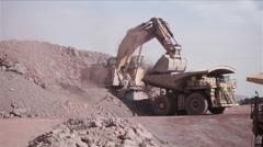 Huge Excavator. Mining Stock Footage