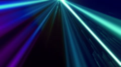 Blue VJ Lights Loopable Background  - stock footage