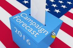 Campaign Forecast 2016 Concept - stock illustration