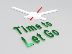 Time to Let Go concept Stock Illustration