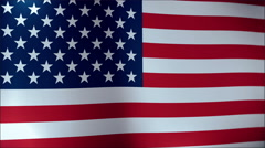 American Flag Slow Waving. Close up of American flag waving Stock Footage