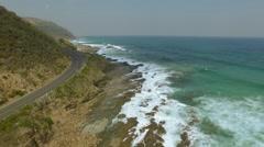 Aerial great ocean road. - stock footage
