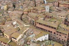 View of Siena old town - stock photo