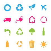 Vector set of environmental / recycling icons Stock Illustration