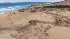 Sand dunes and ocean. Stock Footage