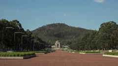 Canberra Australian war memorial moving time-lapse loopable Stock Footage