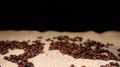 Stock Video Footage of Coffe in Cezve and Coffee Beans on Bagging 2