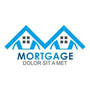 Real estate mortgage home construction company vector - stock illustration