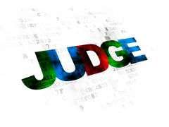 Law concept: Judge on Digital background Piirros