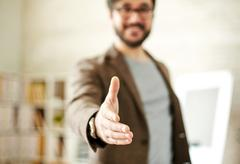 Greeting gesture - stock photo