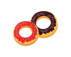 Sweet Donuts logo Design Flat Food Stock Illustration