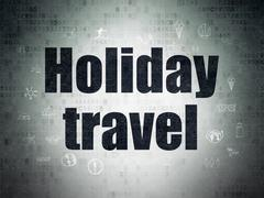 Tourism concept: Holiday Travel on Digital Paper background Stock Illustration