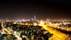 Time-lapse of the Skyline of Ho Chi Minh City Stock Footage