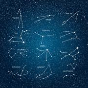 Set vector astrological signs. Zodiac. EPS 10. Stock Illustration