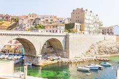 The Vallon des Auffes, Marseilles, France - stock photo